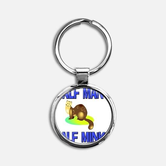 MINK47174 Round Keychain