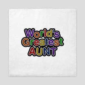 World's Greatest Aunt Queen Duvet