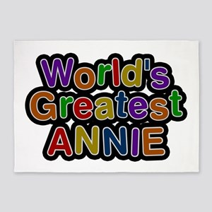 World's Greatest Annie 5'x7' Area Rug