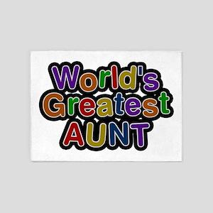 World's Greatest Aunt 5'x7' Area Rug