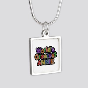 World's Greatest Annie Silver Square Necklace