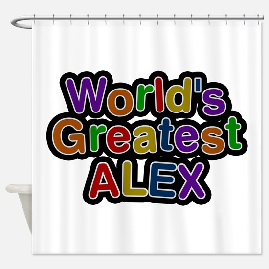 World's Greatest Alex Shower Curtain