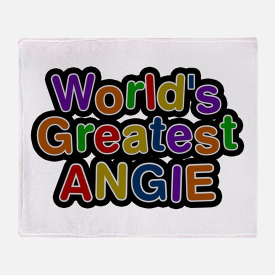 World's Greatest Angie Throw Blanket