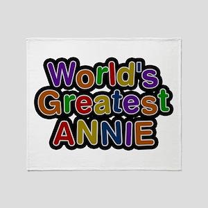 World's Greatest Annie Throw Blanket