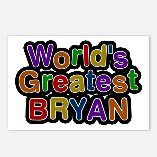 World's Greatest Bryan Postcards 8 Pack