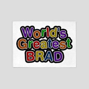 World's Greatest Brad 5'x7' Area Rug