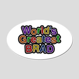 World's Greatest Brad 20x12 Oval Wall Decal