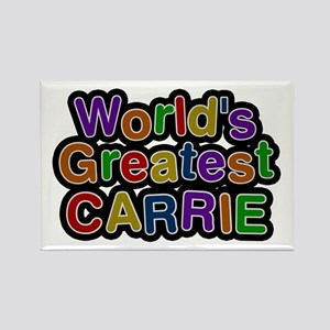 World's Greatest Carrie Rectangle Magnet