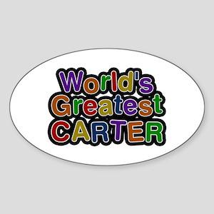 World's Greatest Carter Oval Sticker