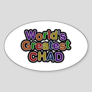 World's Greatest Chad Oval Sticker