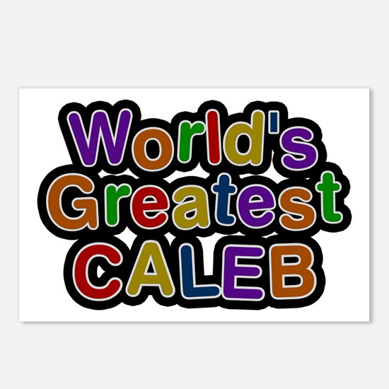 World's Greatest Caleb Postcards 8 Pack