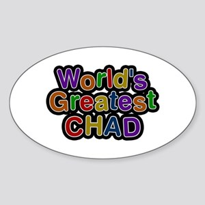 World's Greatest Chad Oval Sticker 10 Pack
