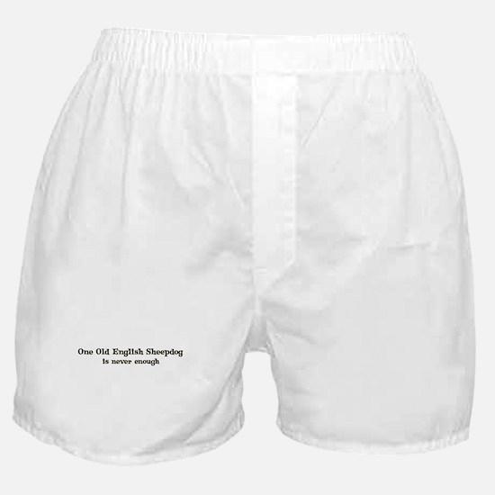 One Old English Sheepdog Boxer Shorts
