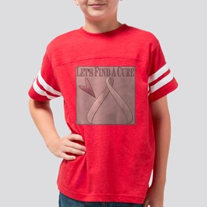 2-BC Lets find a cure Youth Football Shirt