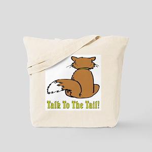 Orange & White Cat Tote Bag