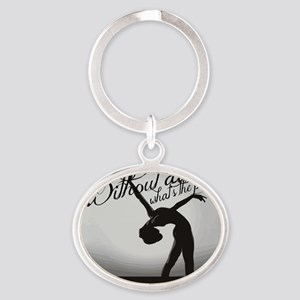 Ballet Dancer Oval Keychain