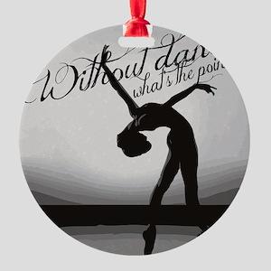 Ballet Dancer Round Ornament