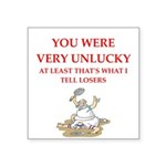 Unlucky gifts and t-shirts. Sticker