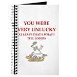 Unlucky gifts and t-shirts. Journal