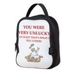 Unlucky gifts and t-shirts. Neoprene Lunch Bag