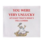 Unlucky gifts and t-shirts. Throw Blanket