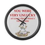 Unlucky gifts and t-shirts. Large Wall Clock