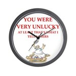Unlucky gifts and t-shirts. Wall Clock
