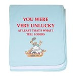 Unlucky gifts and t-shirts. baby blanket