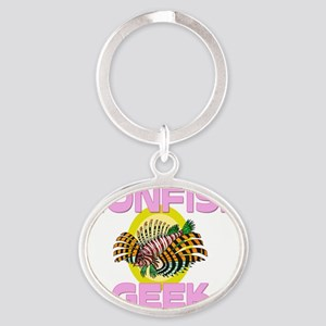 LIONFISH0199 Oval Keychain