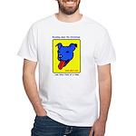 Blue Dog White T-Shirt