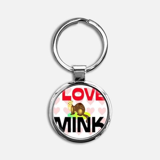 MINK145178 Round Keychain