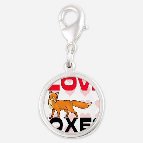 FOXES61271 Silver Round Charm