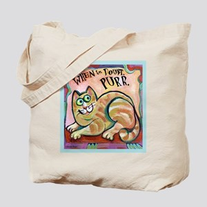 Tote Bag with purr cat