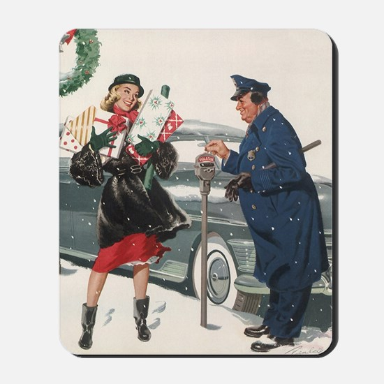 Vintage Christmas Shopping Mousepad