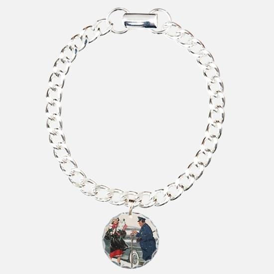 Vintage Christmas Shoppi Bracelet