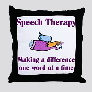 Speech Therapy Throw Pillow