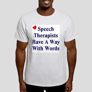 Speech Therapy Ash Grey T-Shirt