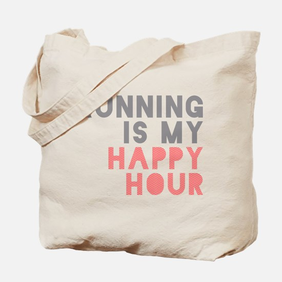 Running Is My Happy Hour Tote Bag