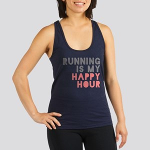 Running Is My Happy Hour Racerback Tank Top