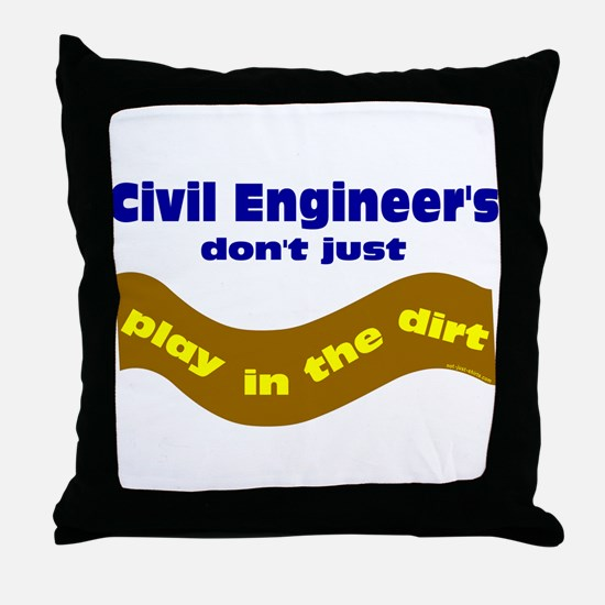 Civil Engineers Play Throw Pillow