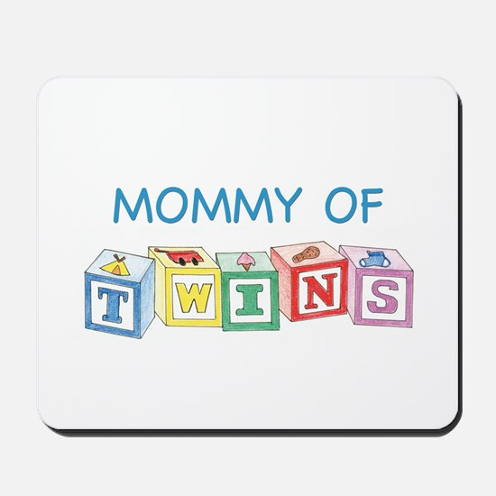 Mommy of Twins Blocks Mousepad