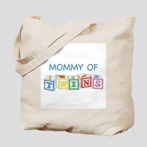 Mommy of Twins Blocks Tote Bag