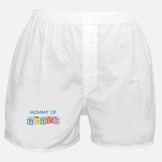 Mommy of Twins Blocks Boxer Shorts