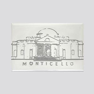 Monticello Rectangle Magnet (100 pack)