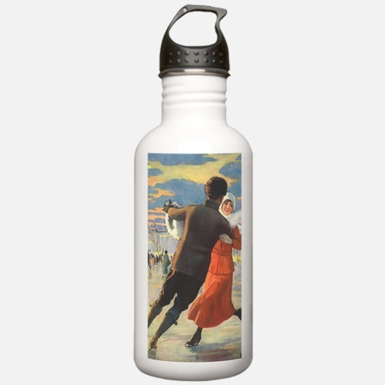 Vintage Love and Roman Water Bottle