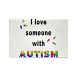 I Love Someone With Autism! Rectangle Magnet (100