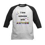 I Love Someone With Autism! Kids Baseball Jersey