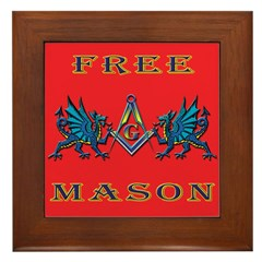 Free Mason and Blue Dragons Framed Tile