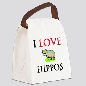 HIPPOS57232 Canvas Lunch Bag
