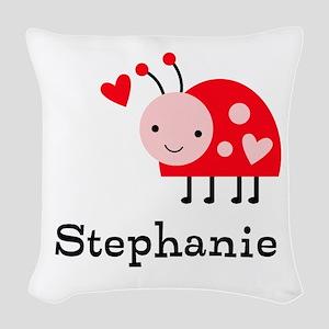 Ladybug (p) Woven Throw Pillow